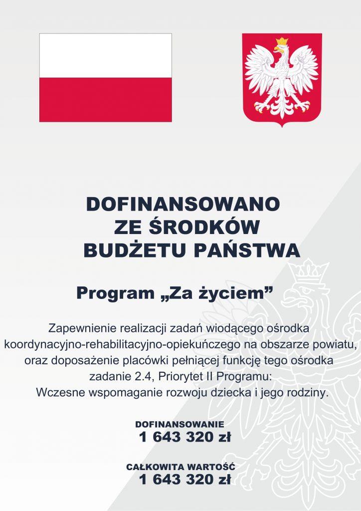 Plakat dofinansowane z budżetu państwa